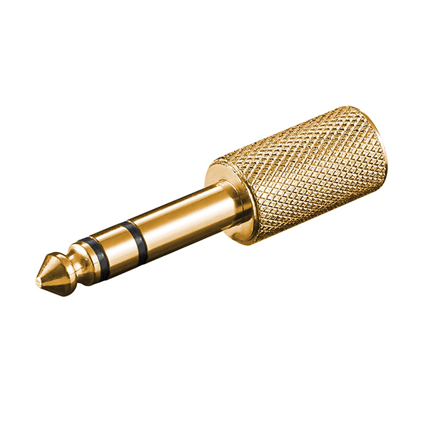 11062  Adaptador 6,3mm M 3-pin ST a 3,5mm H 3-pin ST ORO