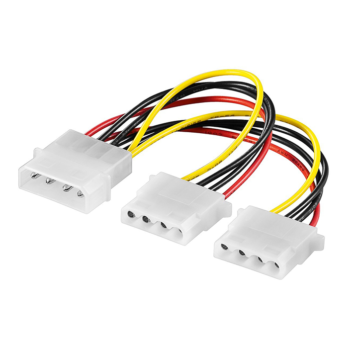 50684  Cable Interno PC;  1xHDD/5.25 M 4-pin a 2xHDD/5.25 H 4-pin
