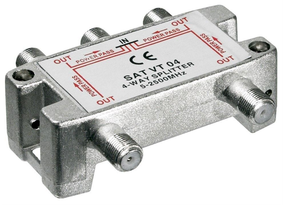 66003  SAT-splitter 4-way - for satellite devices 5-2500 MHz