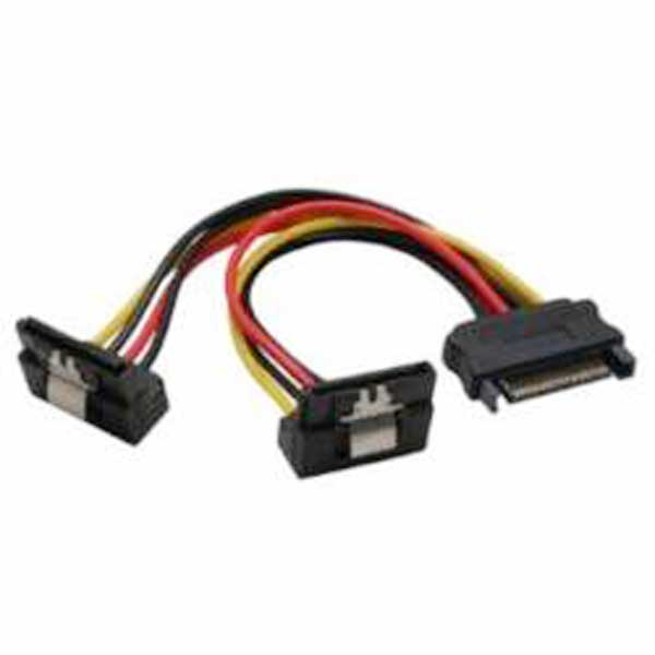 95115  Cable Interno PC;  1xSATA M a 2x SATA H 90° 0,20m