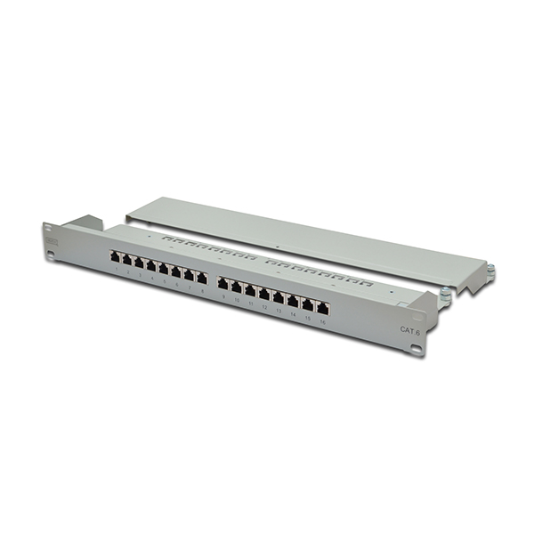 "DGT-DN-91616S  Panel 19"" 16 Puertos FTP Cat 6 Gris 1U"