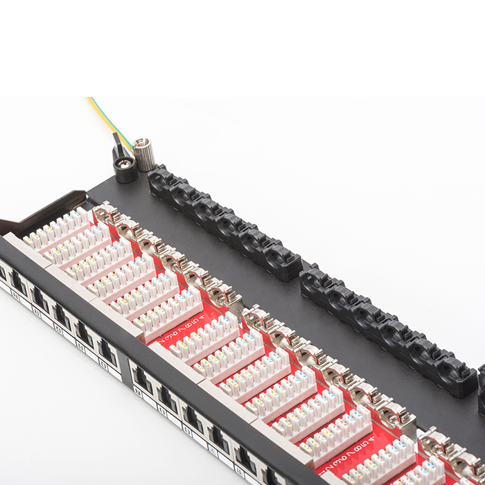"DN-91624S-SL-SH  Panel 19"" 24 Puertos FTP Cat 6 Negro 0,5 U"
