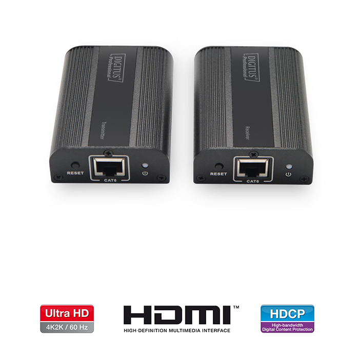 DS-55204  Alargador HDMI sobre Cat. 5e/6  ( 60m) 4K 60Hz DIGITUS