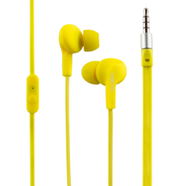 HS0043  IntraAuricular con microfono Amarillo, Water resistant
