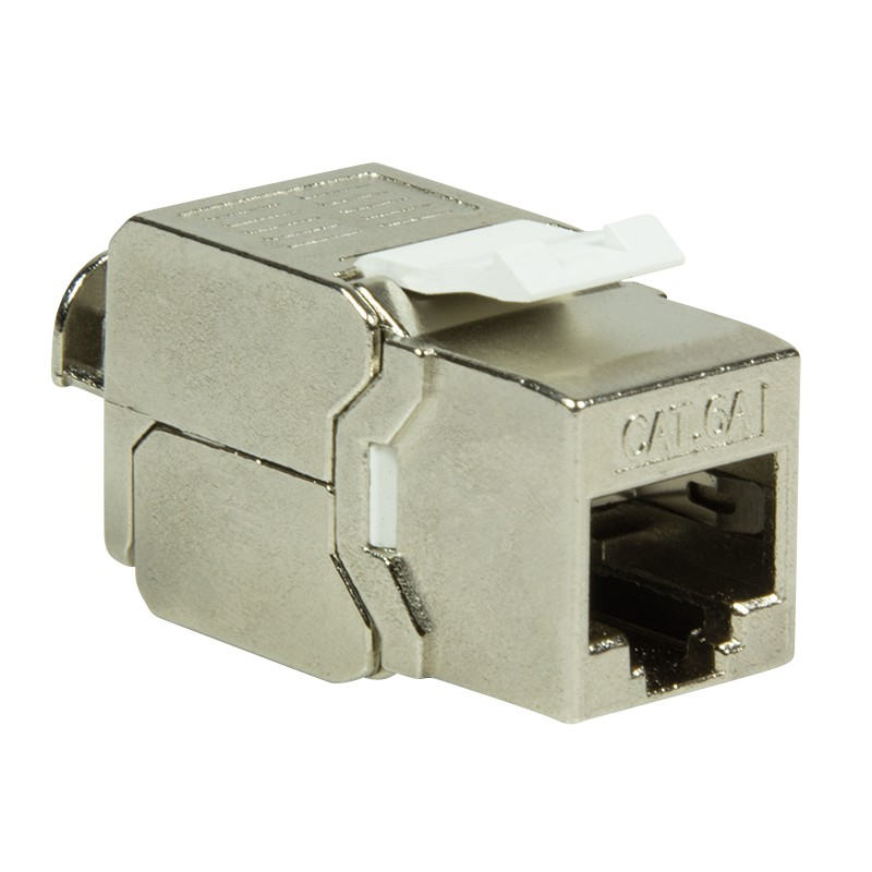KJ58C08  Conector Hembra KeyStone Metal    Cat8.1 GHMT verificado Log