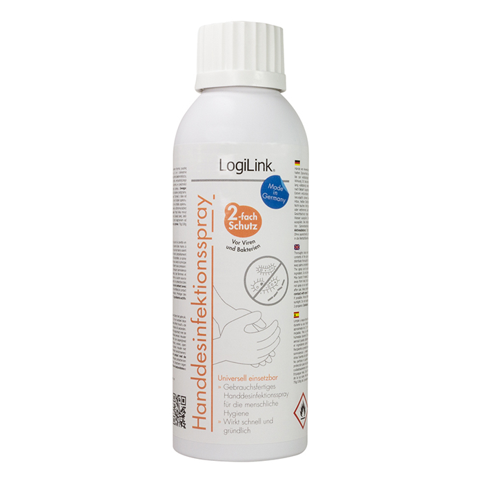 RP0019  Spray desifectante de manos 150ml Logilink