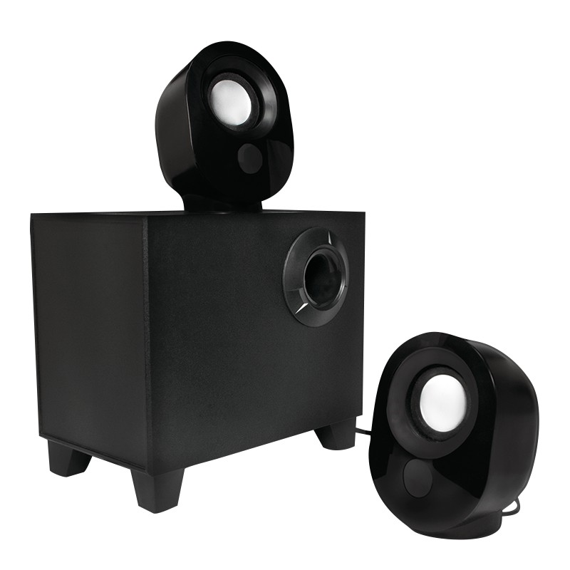 SP0045  Altavoces Active 2.1 Stereo, 2x1,8W + 5,4W Negro Logilink