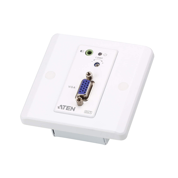 VE157  Alargador VGA sobre Cat. 5e/6 (150 m) Con Placa de Pared