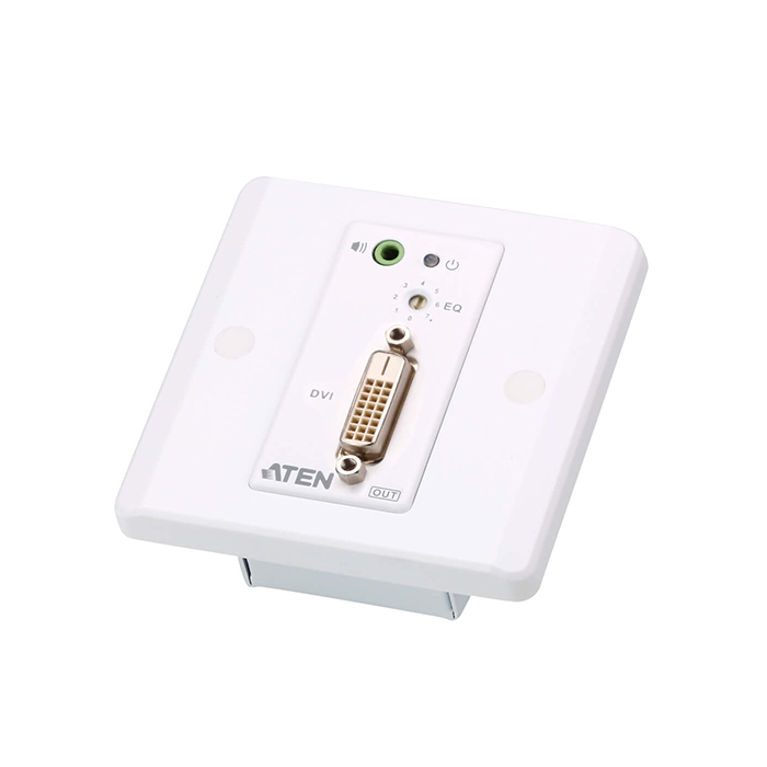 VE607  Alargador DVI sobre Cat. 5e/6  ( 60m) Con Placa de Pared