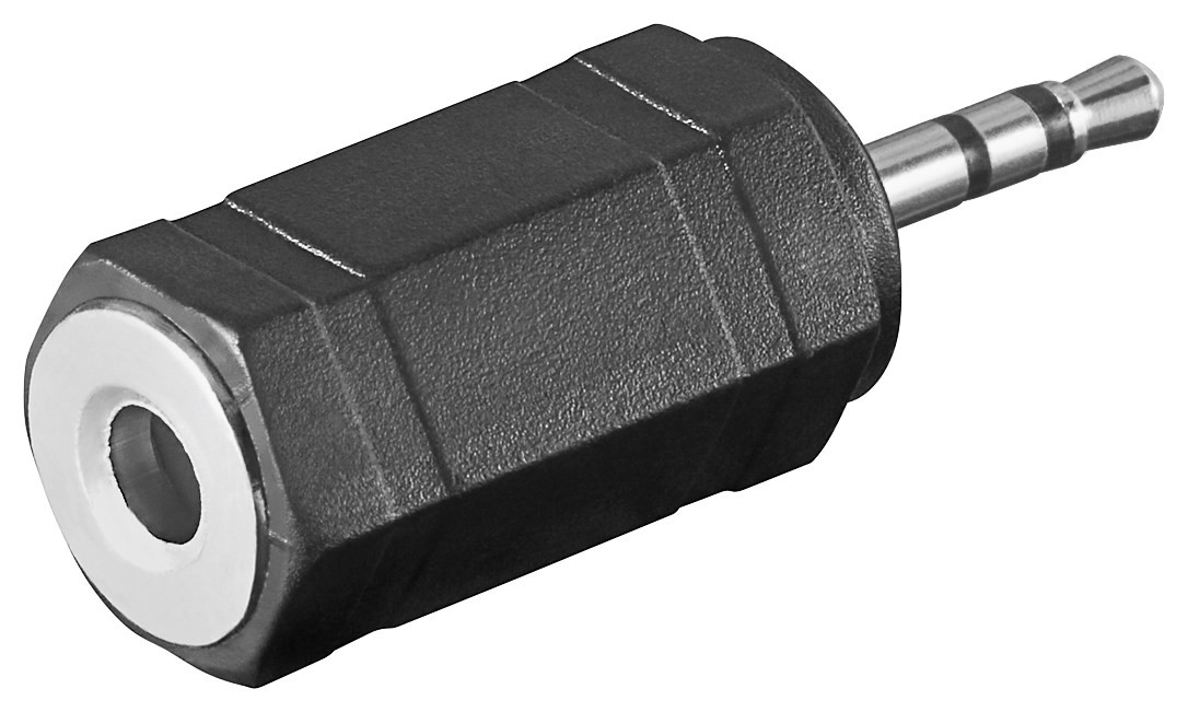 11897  Adaptador 2,5mm M 3-pin ST a 3,5mm H 3-pin ST compacto