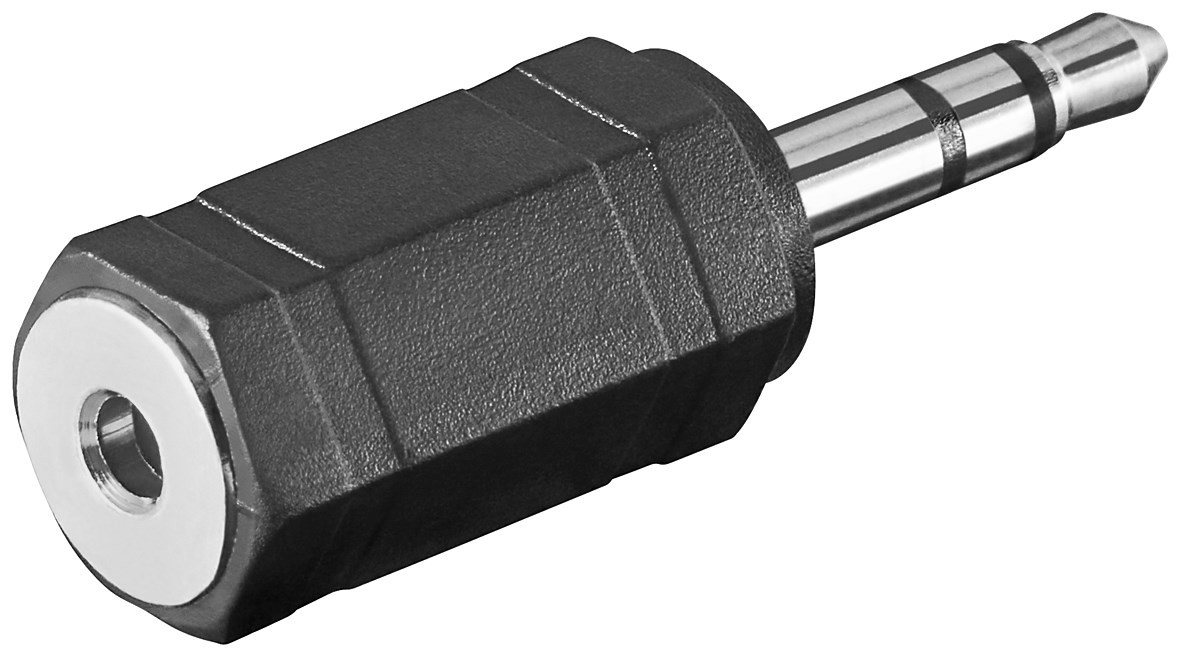 11898  Adaptador 3,5mm M 3-pin ST a 2,5mm H 3-pin ST compacto