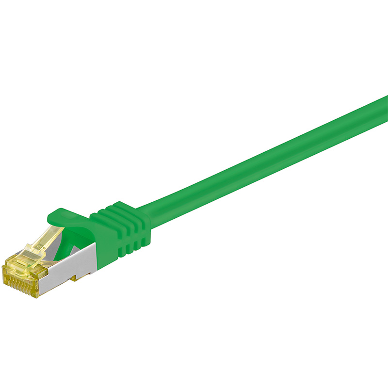 972500VE  Latiguillo Cat 7 S/FTP PIMF RJ45 4x2xAWG 26/7 CU 25m VERDE