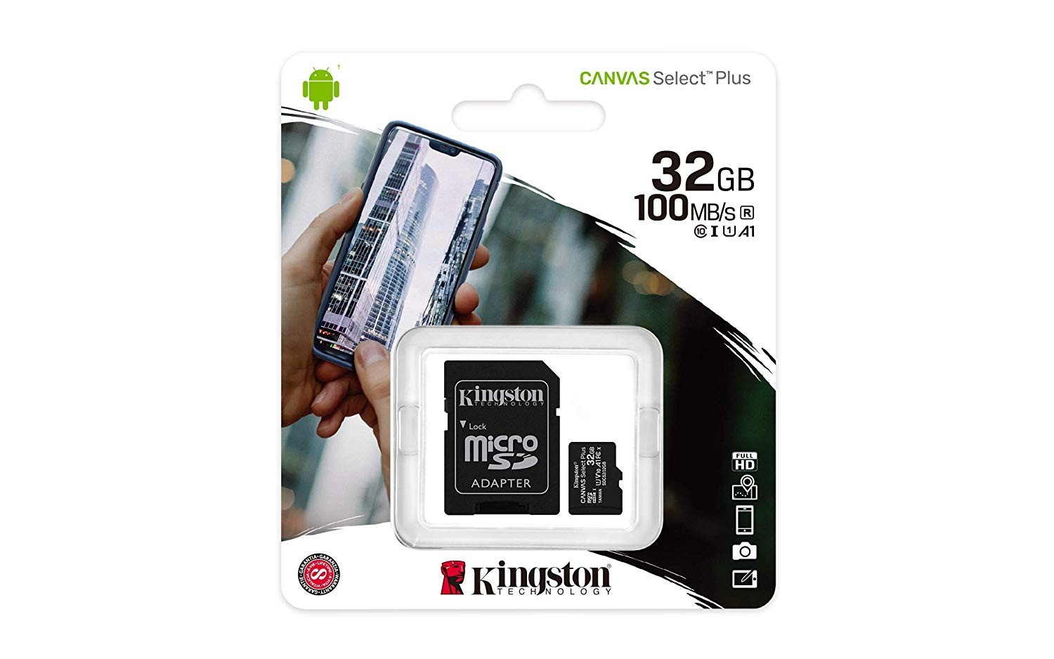 SDCS2 32GB  Kingston Canvas Select Plus Tarjeta microSD, SDCS2/32GB Clas